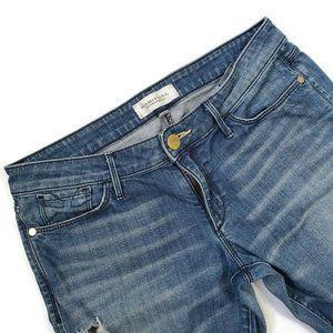 Habitual Women's Skinny Low Rise Distressed Jeans